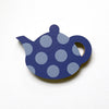 Blue Spotty Teapot Fridge Magnet by Beyond the Fridge