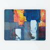 Assembly is an abstract painting on a magnetic board that doubles up as a metal wall art panel