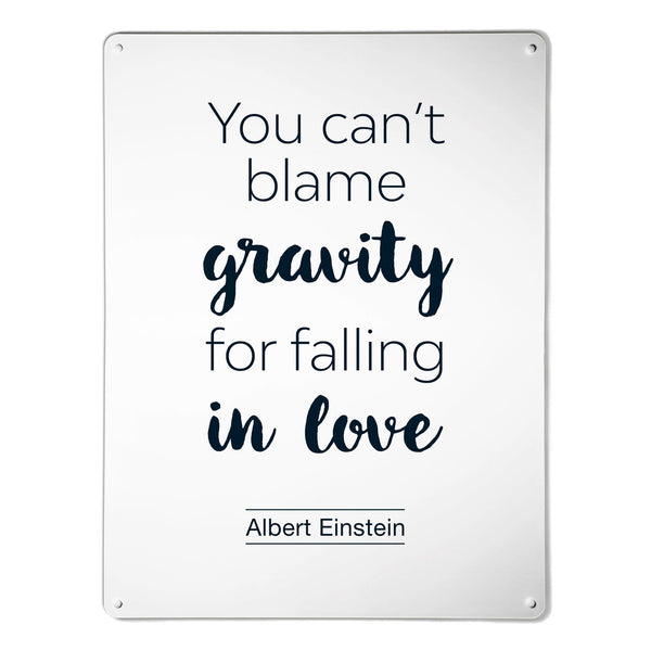 'Inspirational Quote | Albert Einstein' - Large Magnetic Notice Board / Wall Art
