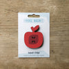 Apple design fridge magnet in red colour variation by Beyond the Fridge