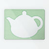 Applique Teapot on Green Gingham - Large Magnetic Dry Wipe Board