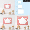 Appliqué Teapot Magnetic Board Size Options