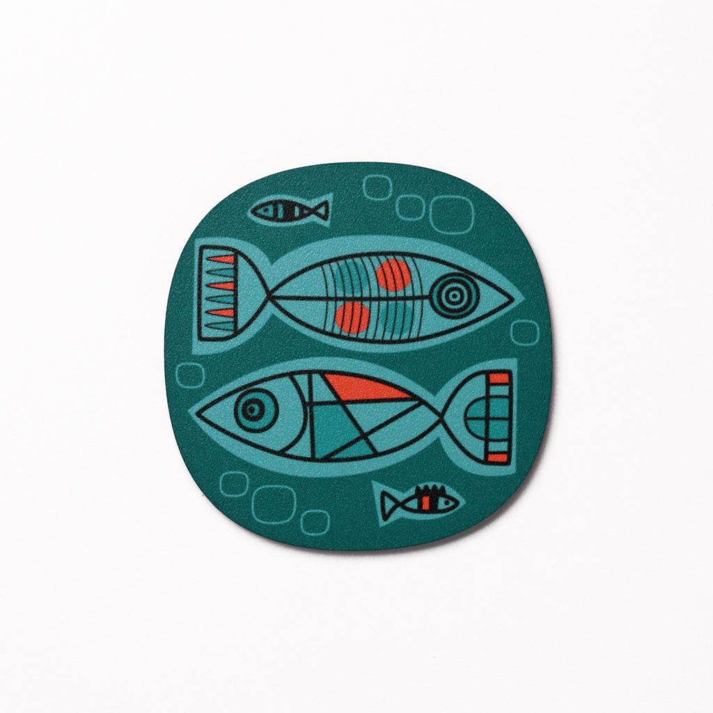 Aquarium design coaster - Aqua