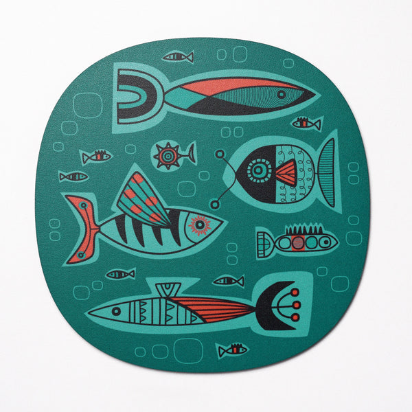 Aquarium design placemat - Aqua