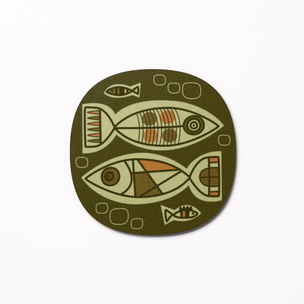 Aquarium design coaster - Kelp