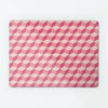 block design repeat pattern magnetic board / metal wall art panel in pink colour option