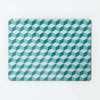 block design repeat pattern magnetic board / metal wall art panel in teal colour option