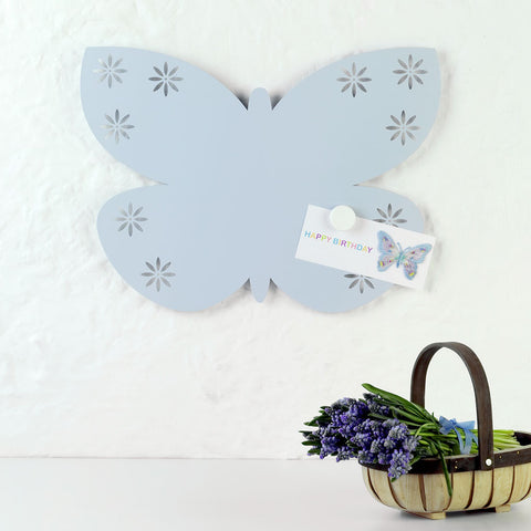 Blue Butterfly Magnetic Board from Beyond the Fridge