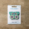 Butterfly design fridge magnet in Aqua colour variation by Beyond the Fridge
