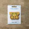 Butterfly design fridge magnet in yellow colour variation by Beyond the Fridge