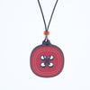 red button design walnut pendant necklace