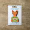 Cat inT-Shirt design fridge magnet in Ginger colour variation by Beyond the Fridge
