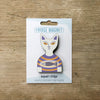 Cat inT-Shirt design fridge magnet in Snowy colour variation by Beyond the Fridge