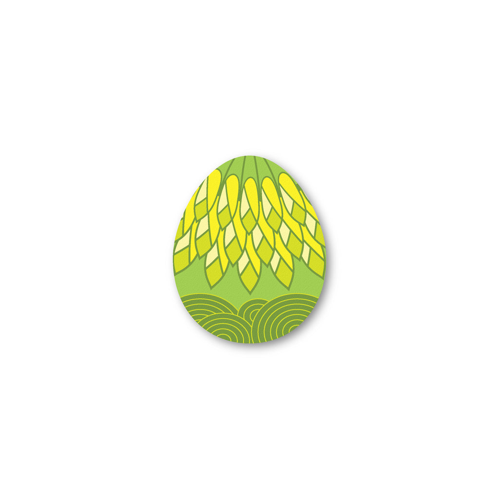 Citrus Bird's Egg shaped coaster - Lemon and Lime