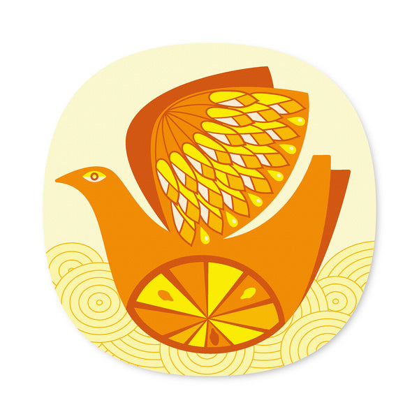 Citrus Bird design placemat - Orange and Lemon