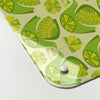 citrus bird lemon and lime pattern magnetic memo board  corner detail