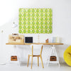 Citrus Bird Lemon and Lime Design Magnetic Board in a workplace setting