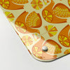 citrus bird orange and lemon pattern magnetic memo board  corner detail