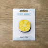 Lemon Citrus Slice design fridge magnet in pack by Beyond the Fridge