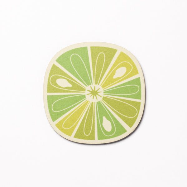Citrus Slice design coaster - Lime