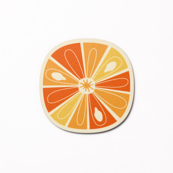 Citrus Slice design coaster - Orange