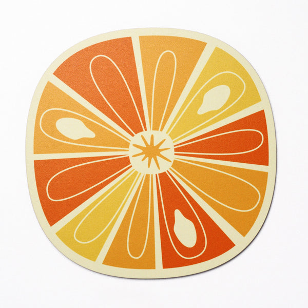 Citrus Slice design placemat - Orange