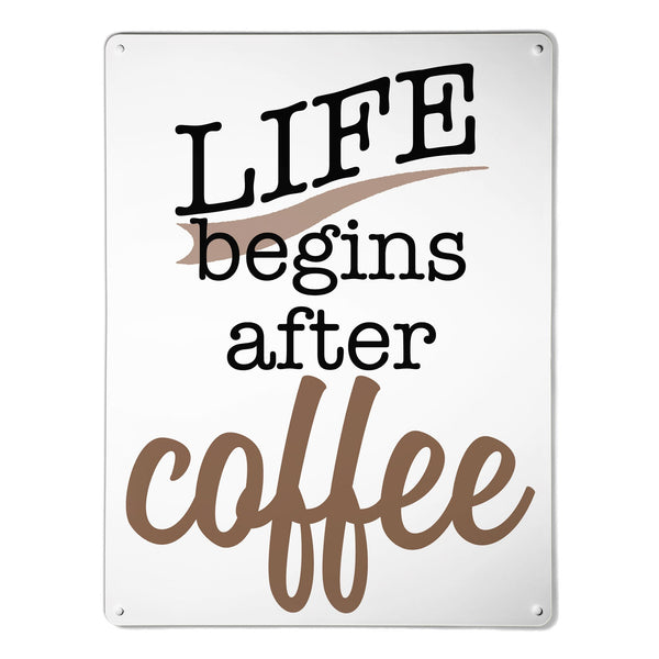 'Coffee Quote' - Large Magnetic Notice Board / Wall Art