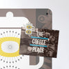 coffee pot design magnetic notice board with a postcard attached with coffee pot fridge magnet