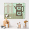 Coffee Pot Green Large Magnetic Board in a kitchen setting