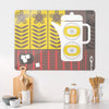 Coffee Pot White Design Large Magnetic Board in a kitchen setting