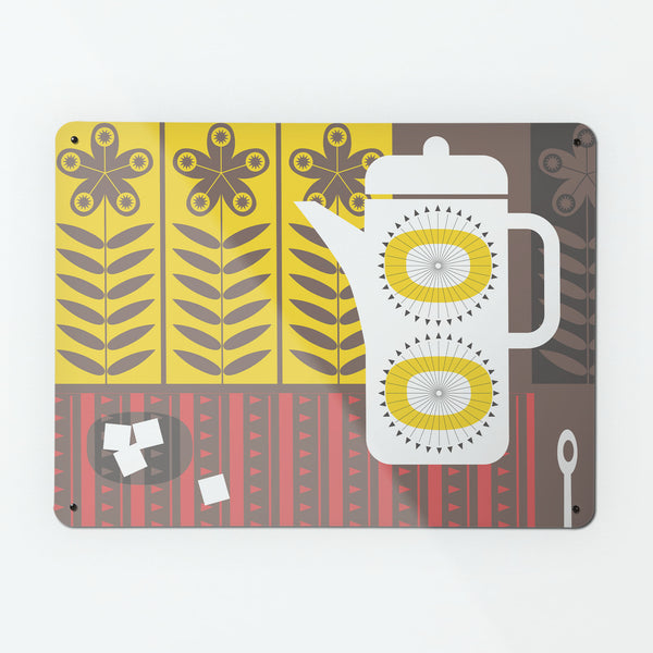Coffee Pot White Magnetic Board