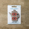 Coffee Pot design fridge magnet in grey colour variation by Beyond the Fridge