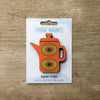 Coffee Pot design fridge magnet in orange colour variation by Beyond the Fridge