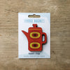 Coffee Pot design fridge magnet in red colour variation by Beyond the Fridge