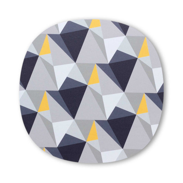 shards geometric design placemat by Beyond the Fridge in Concrete and Yellow colour variation