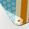 cool britannia design magnetic memo board  corner detail