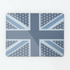 Cool Britannia Blue Design Magnetic Board metal wall art panel by Beyond the Fridge