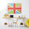 Cool Britannia Fruity Design Large Magnetic Board in a workspace setting
