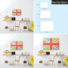 Cool Britannia Design Magnetic Board Size Options