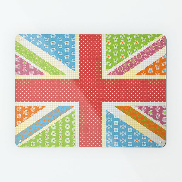 Cool Britannia Fruity Design Magnetic Board metal wall art panel by Beyond the Fridge