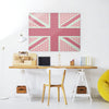 Cool Britannia Pink and Green Design Large Magnetic Board in a workspace setting