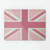 Cool Britannia Pink and Green Design Magnetic Board metal wall art panel by Beyond the Fridge