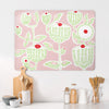 Cupcake Plant Design Pink Large Magnetic Board in a kitchen setting