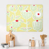 Cupcake Plant Design Yellow Large Magnetic Board in a kitchen setting