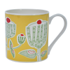 Bone China Mug Cupcake Design Yellow