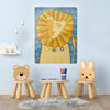 Dandy Lion Design Magnetic Board in a playroom setting