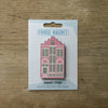 Delft House design fridge magnet in pink colour variation by Beyond the Fridge