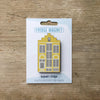 Delft House design fridge magnet in yellow colour variation by Beyond the Fridge