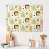 Exotic Fruit Design Large Magnetic Board in a kitchen setting