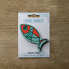 Fish design fridge magnet in deep aqua colour variation by Beyond the Fridge